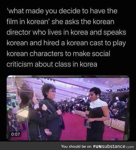 Why Korean man make Korean movie?!?