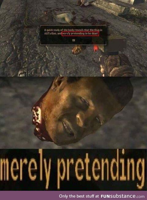 Merely pretending