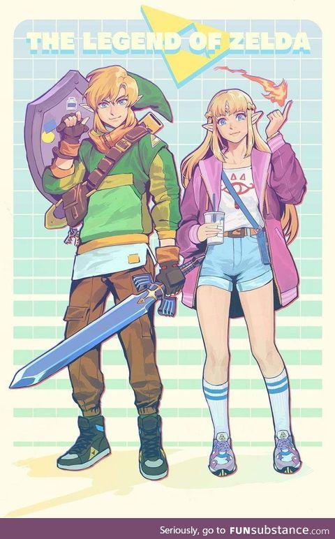 The modern Zelda & link