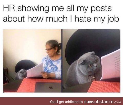When HR catch you