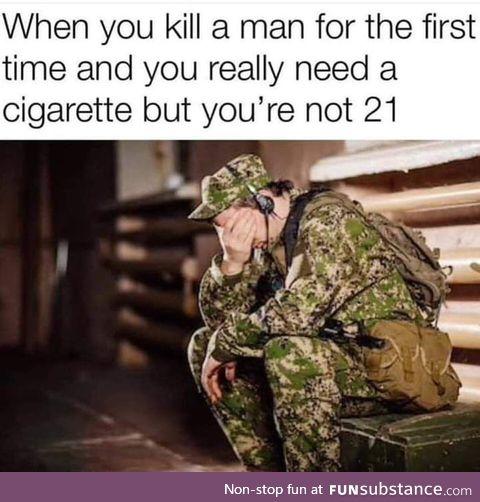 Get this man a smoke