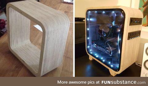 Wood desktop tower build