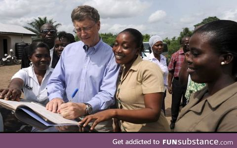 To all the anti-vaciners out there. Bill Gates has donated 6 Billion $ from his