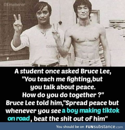 Bruce lee preserving the tradition of
