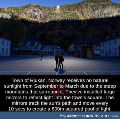 The norwegian town with no sunlight