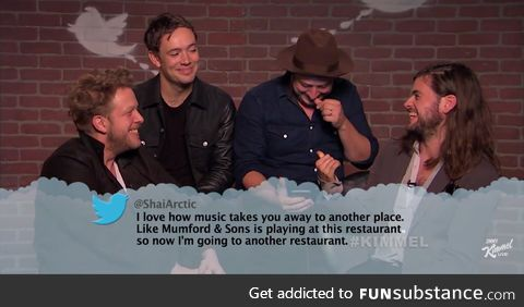 Mean Tweet for Mumford and Sons