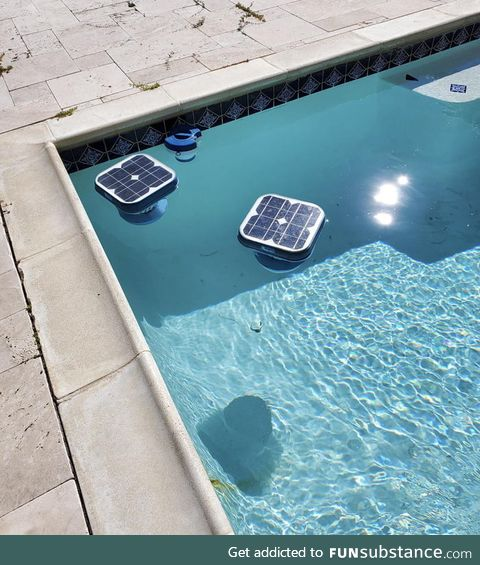 Solar powered pool cleaners