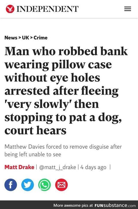 But he was a good boy
