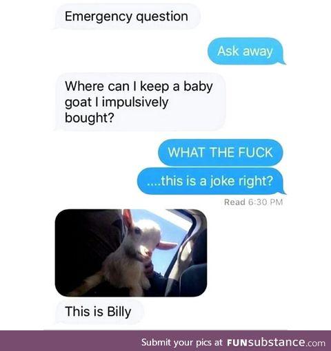 No it's Billy
