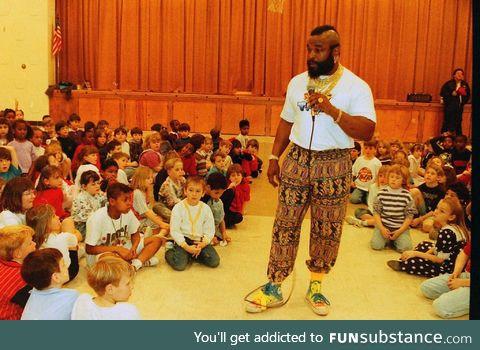 Mr. T teaching fools to stay in school circa 1985
