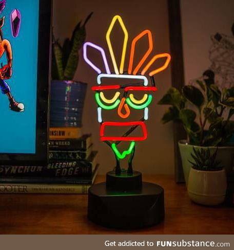Hand bent glass neon light - AkuAku - what do you Think?
