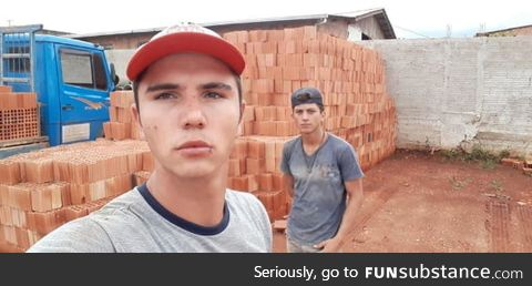 If you are having a bad day, remember that we unloaded six thousand bricks in the wrong