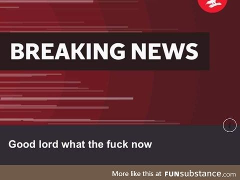 This just in!!