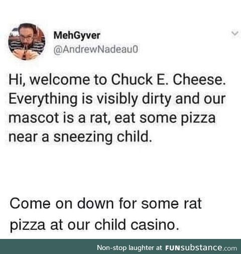 The sneezing kids germs are just extra protein for your pizza