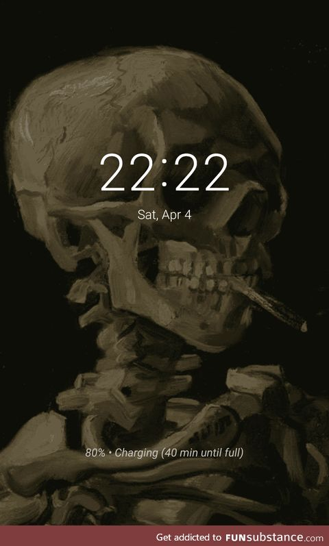 Since we're sharing wallpapers, here's my lock screen, it's a painting by van Gogh :)