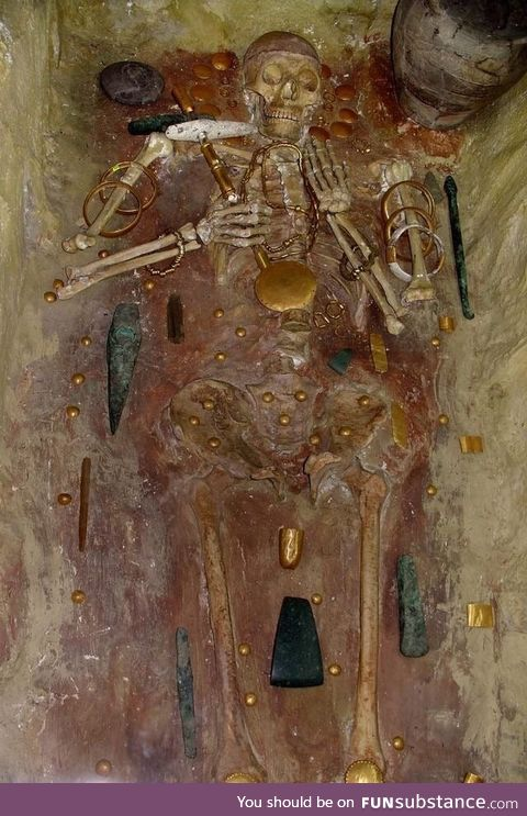 Ancient skeleton with the world's oldest gold found near the Black Sea