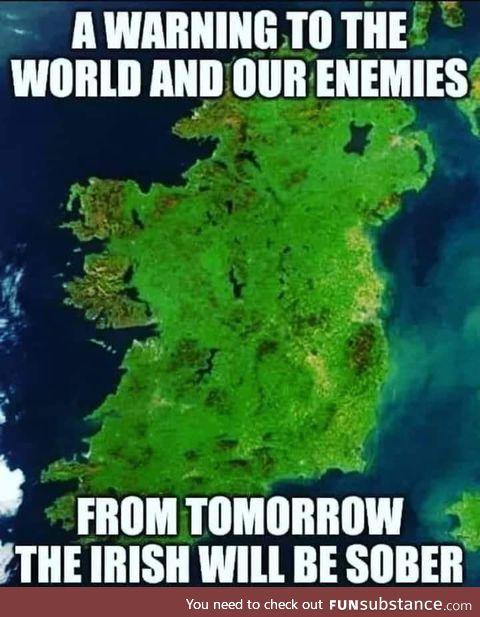 Irish pubs locked down