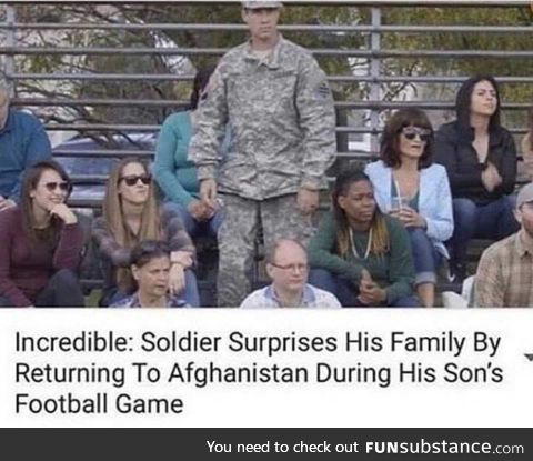 When you suck so hard at baseball your dad goes back to afghanistan