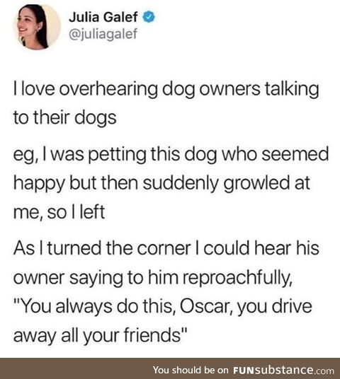 Do you talk to your dog ?