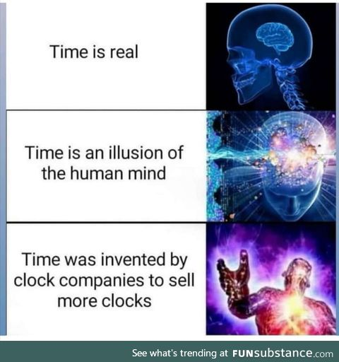 Can't believe there are still morons who think time is real lmao