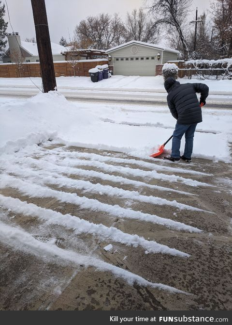 Somebody has a snow problem