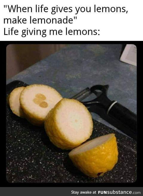 No lemonade?