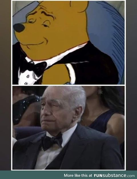 Martin Scorsese is the elegant pooh in real life