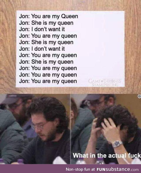 80% of Jon's lines