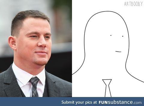 Just finished a portrait of Channing Tatum. I did my best! Happy Birthday, Channing!