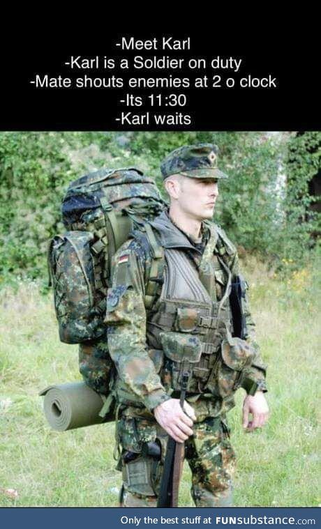 Karl is patient