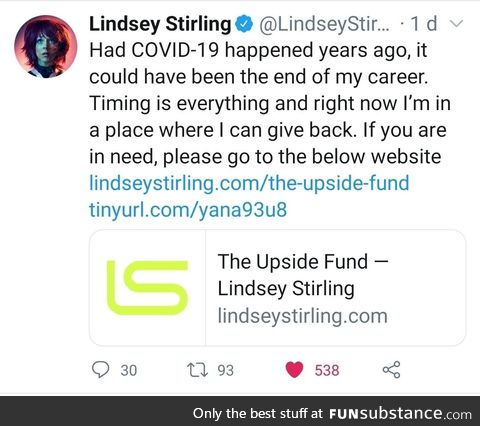 Lindsey Stirling is good stock