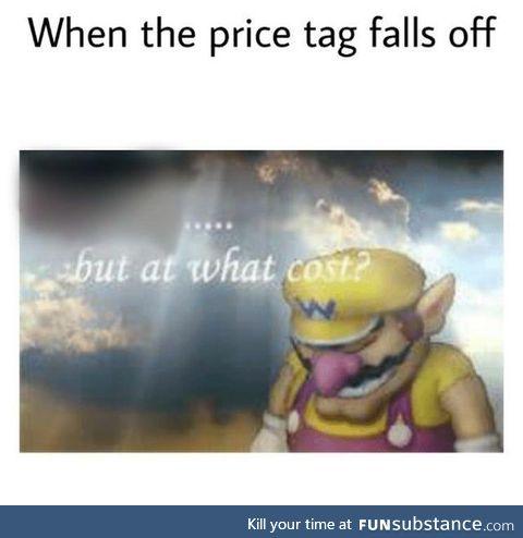 Price tag meme