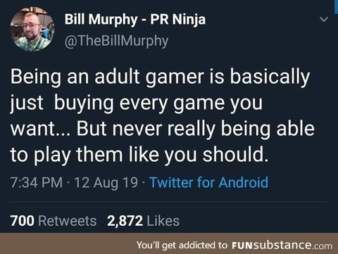 *gaming library has over 200 games in it*