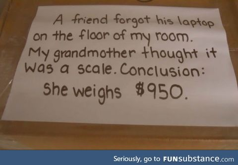 Never ask a woman what she weighs