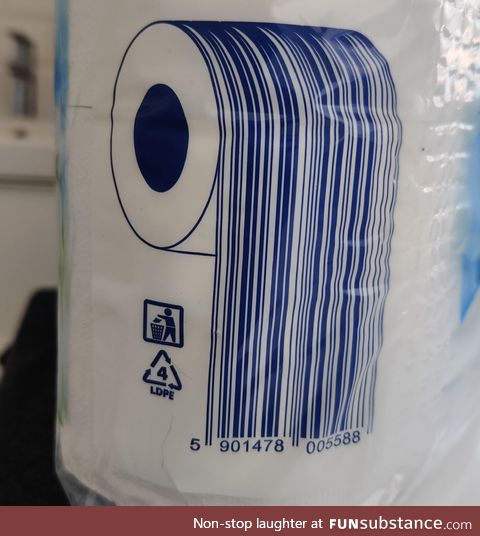 That is how you make a barcode for toilet paper