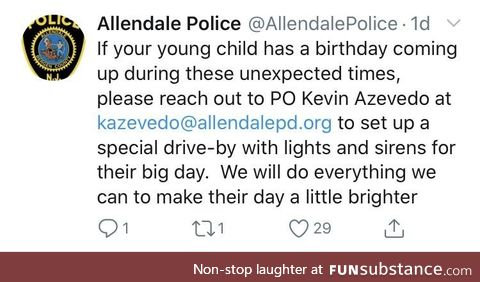 NJ police putting on b-day parades