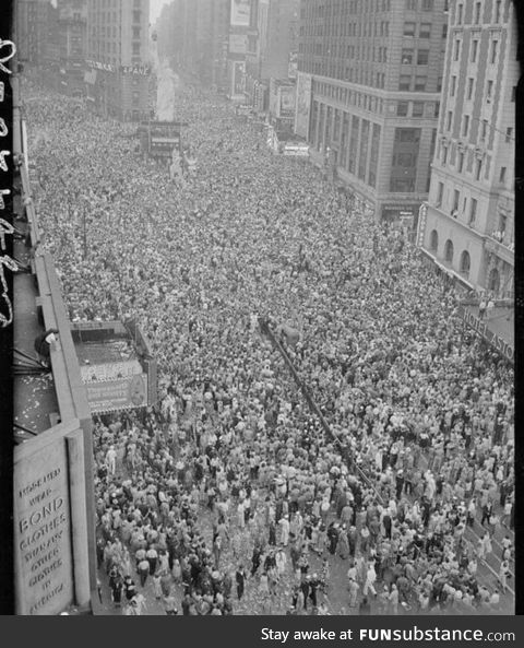 May 8, 1945... Two Million People Gathered In Times Square To Celebrate The End Of WWII