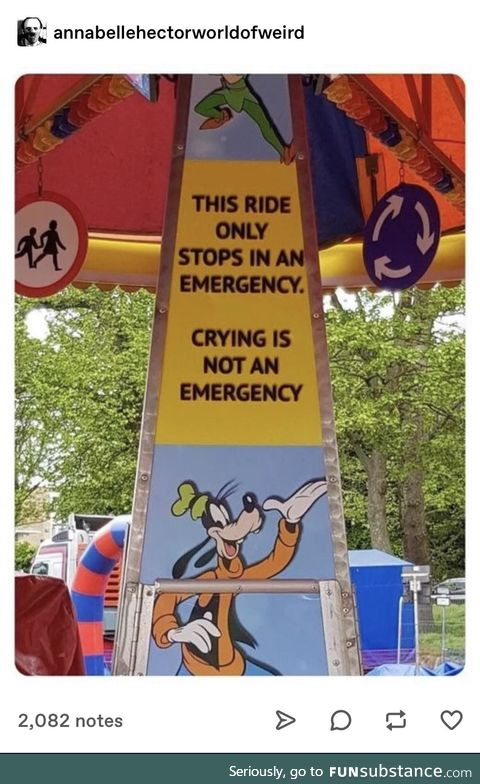 You heard if from Goofy, first
