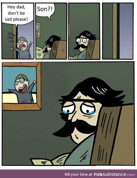 His son is as dead as this meme