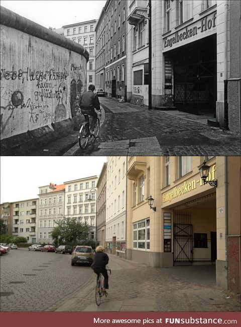 How the Wall is gone ( ~1985 / 2018 )