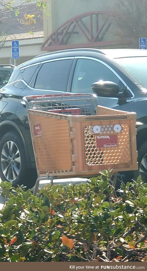 This cart has seen some things