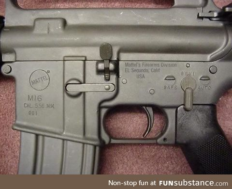 Some of the Vietnam M16 rifles were made by the toy company Mattel