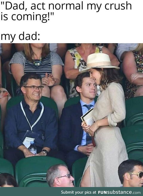 Dad's can't help themselves