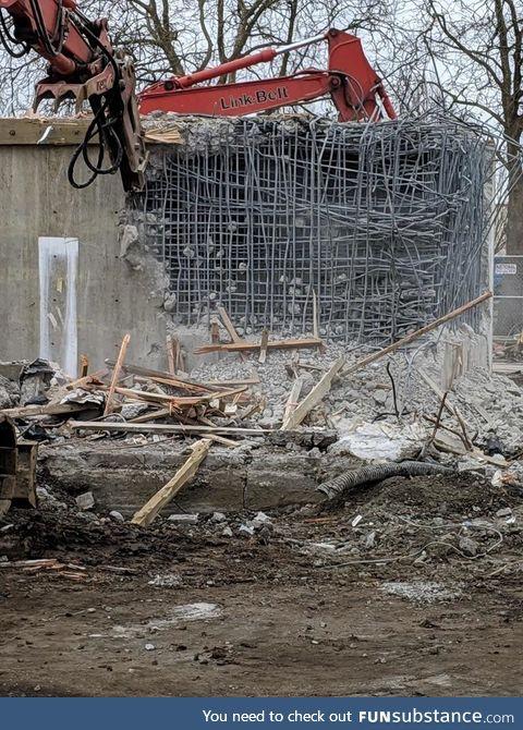 Demolishing a bank vault