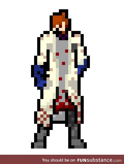 I made an attempt at sprite work for Dr. Ew