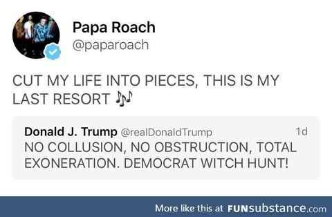 Thank you, Papa Roach