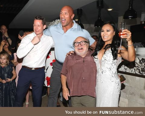 """Danny DeVito and The Rock were just """"sipping on a lil' Terema tequila enjoying"""