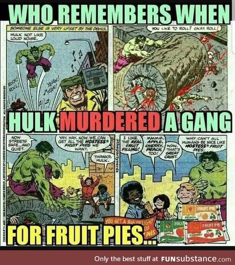 Hulk was Savage about fruit pies