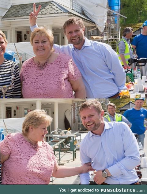 Prime Minister of Norway being infected by the Health Minister