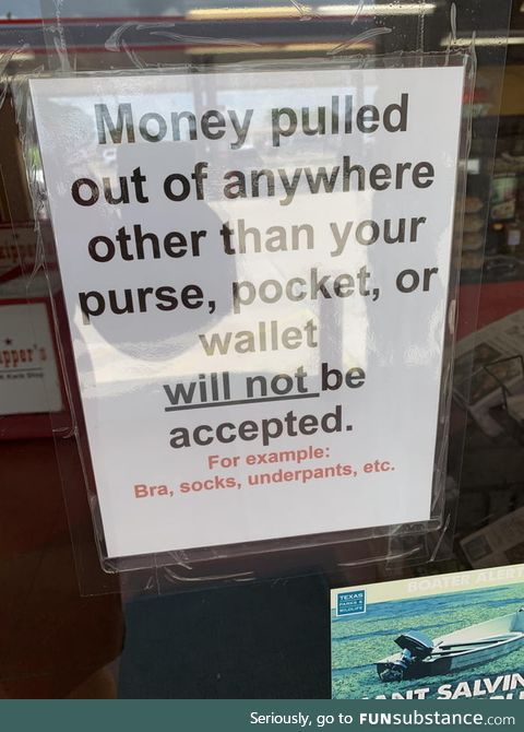 Stopped at a gas station and saw this sign on the entrance door